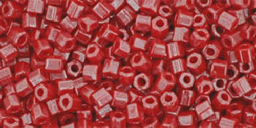TOHO Hexcut 11/0 (#125) Opaque-Lustered Cherry