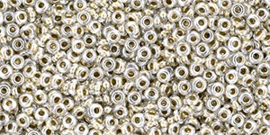 TOHO Demi Round 11/0 2.2mm (#989) Gold-Lined Crystal