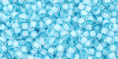 TOHO Rocailles 11/0 (#976) Inside-color Crystal/Neon Ice Blue Lined