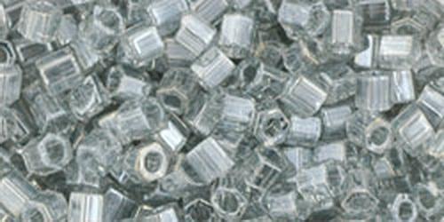 TOHO Hexcut 8/0 (#112) Trans-Lustered Black Diamond