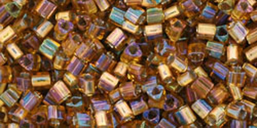 TOHO Triangle 11/0 (#278) Gold-Lined Topaz