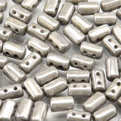 Rulla Beads 3x5 mm Chalk Jet Lustre