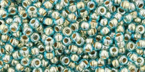 TOHO Rocailles 15/0 (#990) Gold-Lined Aqua