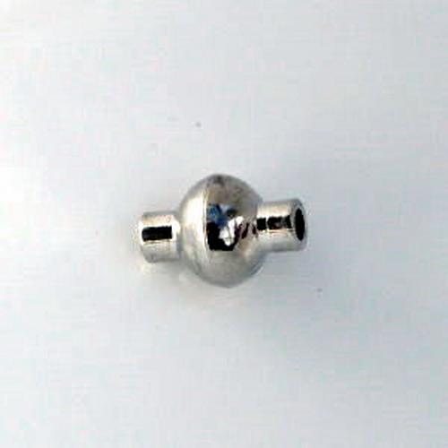 Magnetverschluß Linse 2mm Rhodium