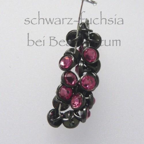 CRYSTALETTS 3mm Swarovski Rose Crystal / Schwarz Rhodiniert