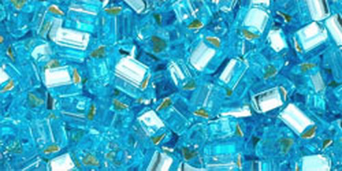 TOHO Triangle 8/0 (#23) Silver-Lined Aquamarine