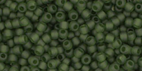 TOHO Rocailles 11/0 (#940F) Transparent-Frosted Olivine