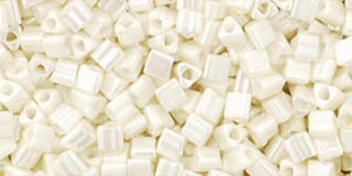 TOHO Triangle 11/0 (#122) Opaque-Lustered Navajo White