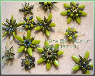 Haya Shuriken by Beadlibitum