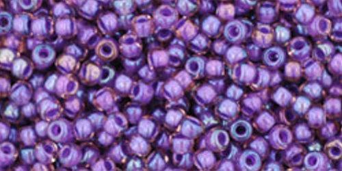 TOHO Rocailles 11/0 (#928) Inside-Color Rainbow Rosaline/Opaque Purple Lined