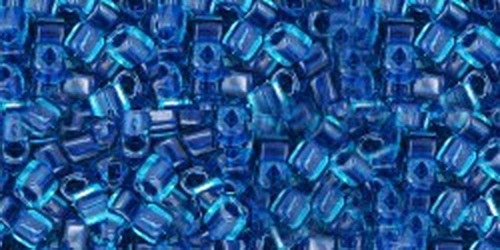 TOHO Cube 2mm (#932) Inside-Color Aqua/Capri Lined