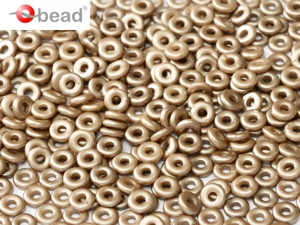 O-Beads 2x4 mm Pastel Lt.Brown