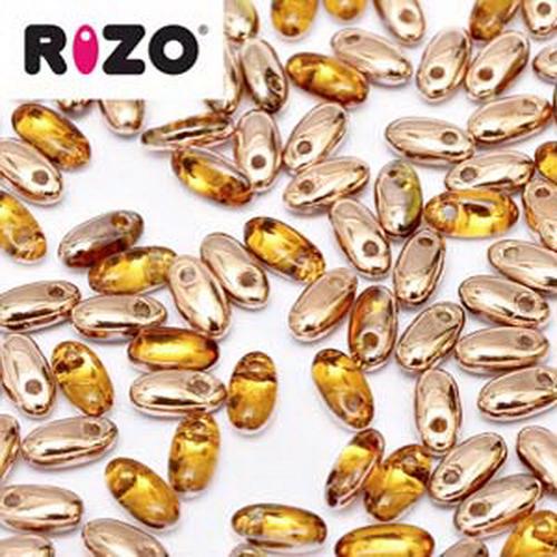 Rizo Beads 2,5x6mm Capri Gold