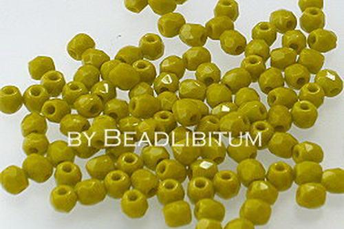 Firepolish 3mm Olive, 50 St.
