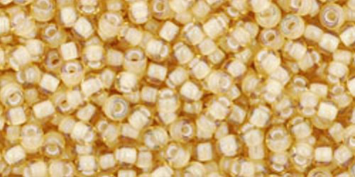 TOHO Rocailles 11/0 (#948) Inside-Color Jonquil/White Lined