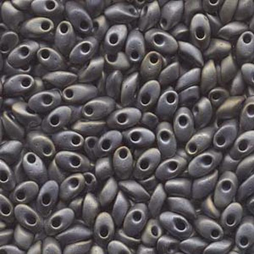 Miyuki Long Magatama (#2002) Matte Metallic Grey