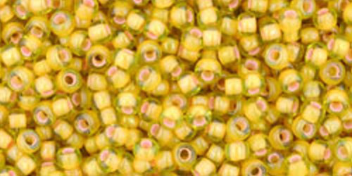 TOHO Rocailles 11/0 (#302) Inside-Color Jonquil/Apricot Lined