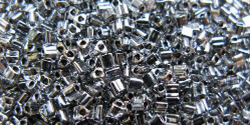 TOHO Triangle 11/0 (#344) Inside-Color Crystal/Dk Opaque Black Lined