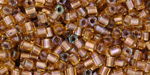 TOHO Hexcut 11/0 (#278) Gold-Lined Topaz