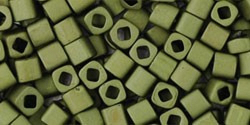 TOHO Cube 3mm (#617) Matte-Color Dark Olive
