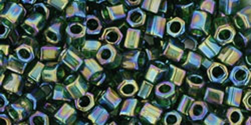 TOHO Hexcut 8/0 (#180) Trans-Rainbow Olivine
