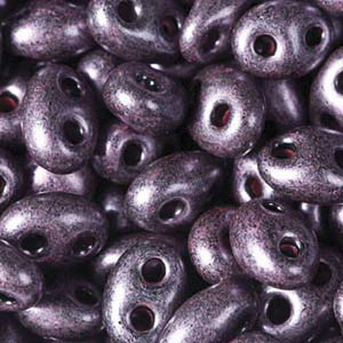 Twin Beads 2,5x5mm (#28998) Jet Dark Purple Pearl