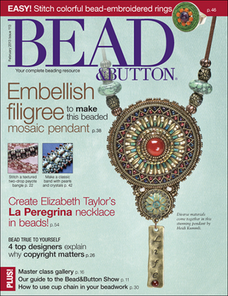 Bead & Button Magazine Februar 2013