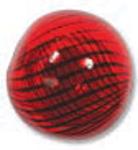 Venezianische Hohlperle Red/Black, 13 mm rund