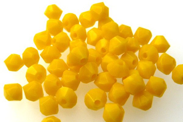 Bicone 4mm Yellow, 50St.