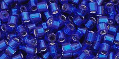 TOHO Hexcut 8/0 (#28D) Dark Cobalt Blue Silver Lined
