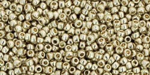TOHO Rocailles 15/0 (#558PF) Permanent Finish - Galvanized Aluminum