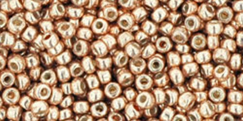 TOHO Rocailles 11/0 (#551PF) Permanent Finish Peach Galvanized
