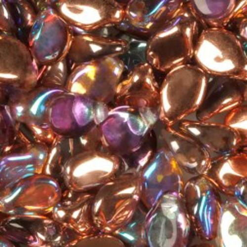 PRECIOSA Pip Beads 5x7mm Crystal Copper Rainbow, 50 St.