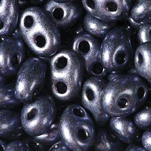 Twin Beads 2,5x5mm (#28928) Jet Plum Pearl