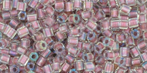 TOHO Hexcut 11/0 (#267) Inside-Color Crystal/Rose Gold Lined
