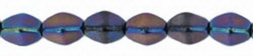 Pinch Beads 5x3mm Iris - Blue, 50 St.