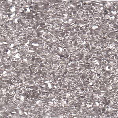 Matsuno Peanut Beads 2x4mm (P1034) Clear Silver