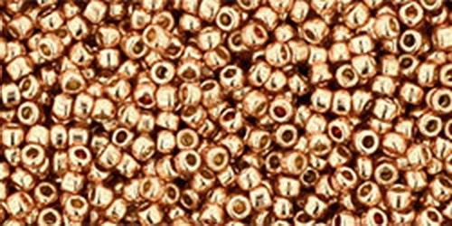 TOHO Rocailles 15/0 (#551PF) Permanent Finish - Galvanized Rose Gold