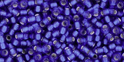TOHO Rocailles 15/0 (#28F) Silver-Lined Frosted Dark Sapphire